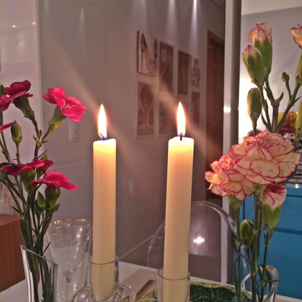 jantar luz de velas