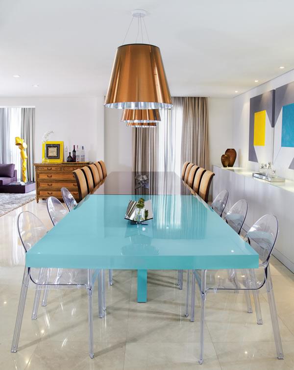 mesa turquesa