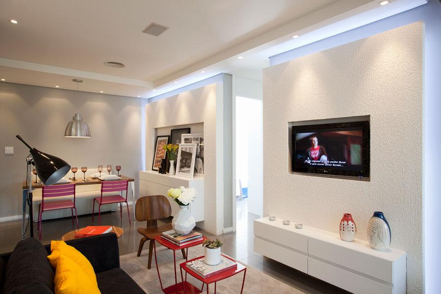 Apartamentos pequenos papo de casada for Decorar apartamentos modernos pequenos