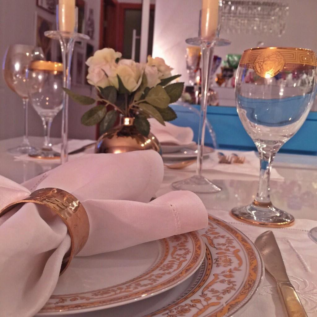 mesa posta dourada