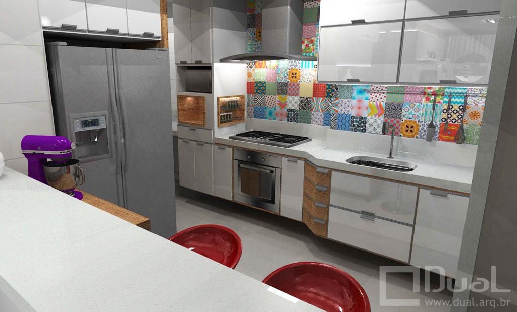 cozinha americana 3d