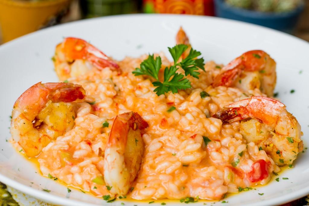 risoto camarão